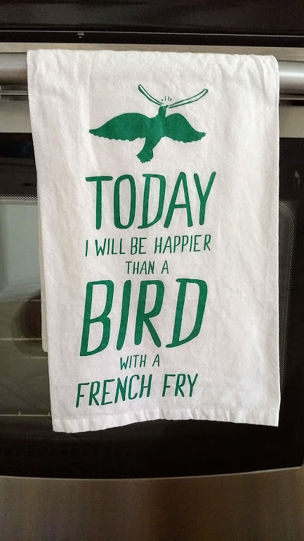 Happy bird french fry